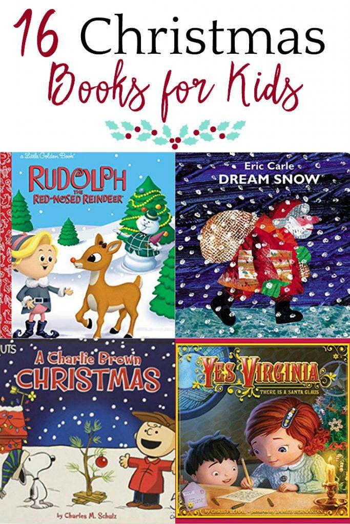 Christmas books collage