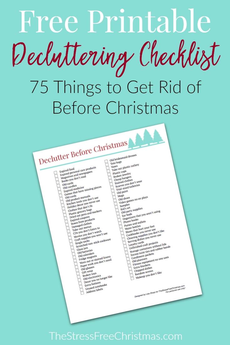 screen shot of decluttering checklist