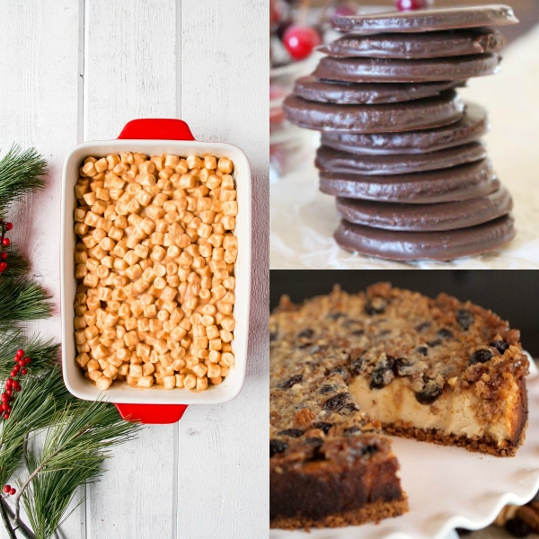 collage of gluten free christmas desserts