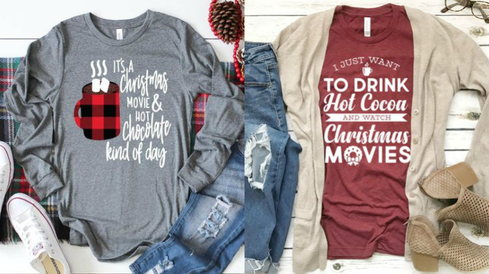 t-shirts with cute Christmas movie sayings