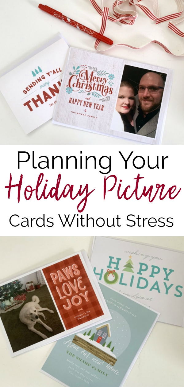 holiday picture cards collage