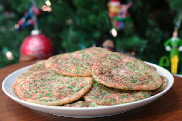 Christmas Funfetti Cake Mix Cookies