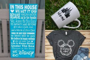 collage of different Disney gifts