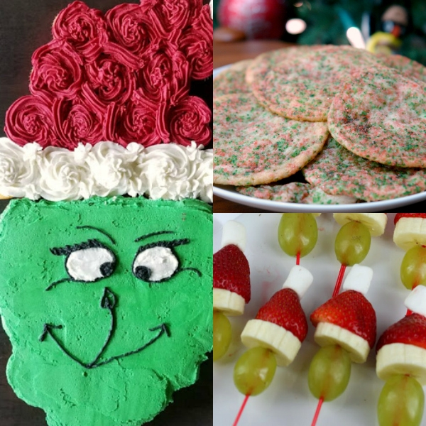 collage of grinch recipes