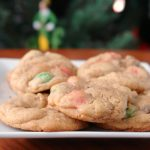 Christmas Mint M&M Cookies