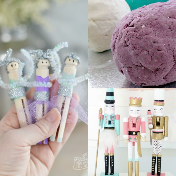 collage of Nutcracker themed crafts