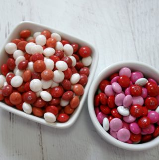 bowls of Valentine's Day candy