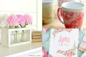 collage of DIY gifts for moms