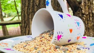 DIY Sharpie Mug Bird Feeder