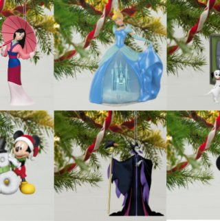 collage of Disney ornaments