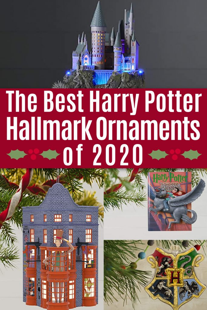 collage of Harry Potter ornaments