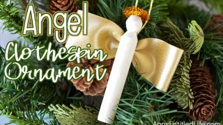 Angel Clothespin Ornament DIY