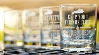 DIY Kentucky Bourbon Etched Glass Set