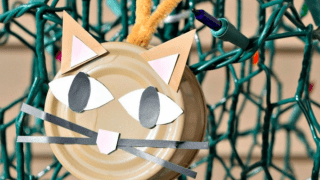 DIY Cat Food Can Christmas Ornament