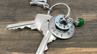 How to Make a Hand Stamped Washer Key Chain