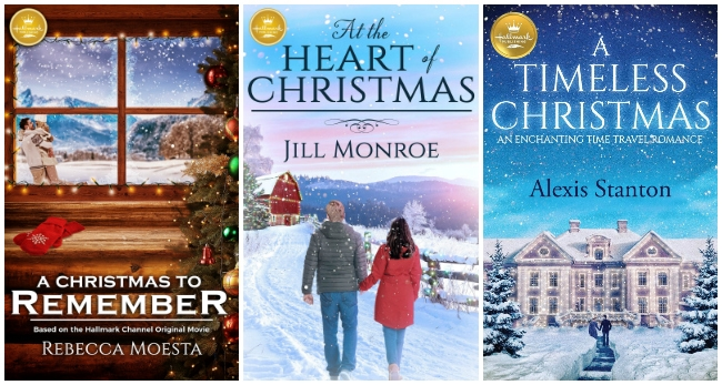 Hallmark Christmas book covers