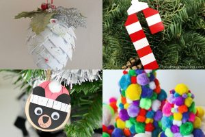 Collage Christmas in July crafts