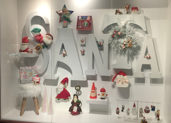 Santa display at Hallmark museum in Kansas City