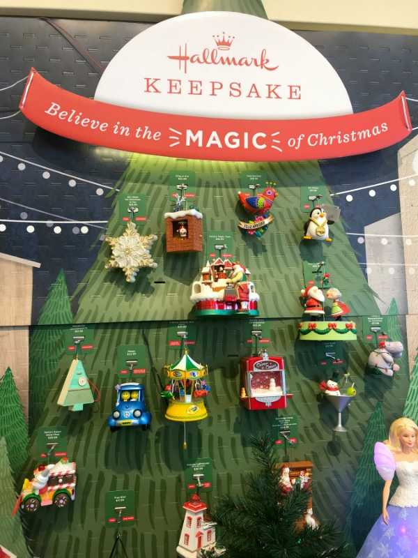 ornaments at local hallmark ornament debut event