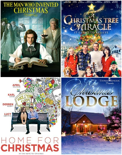 collage of christmas movies