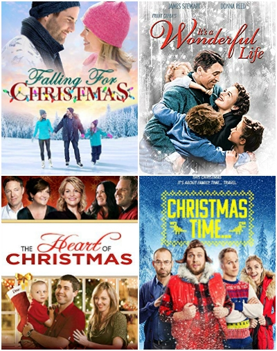 collage of Christmas movies on Amazon Prime