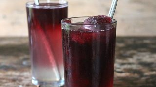 Mulled Gin Cocktail with Mulled Wine Ice Cubes