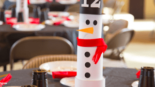 Super Cool Snowman Table Decor