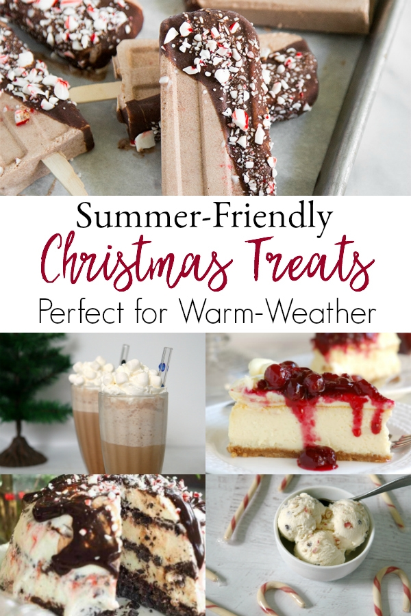 collage of summer christmas treats