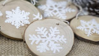 Rustic Wood Snowflake Ornament