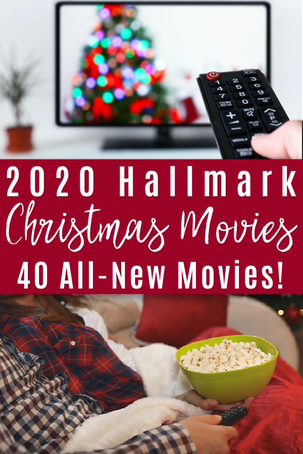 christmas movie on tv and couple on sofa with popcorn