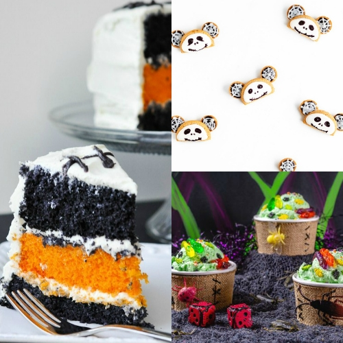 collage of nightmare before christmas food