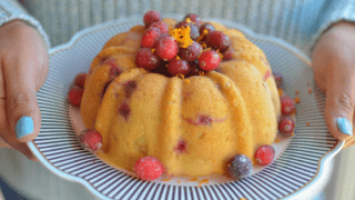 Instant Pot Cranberry Orange Bundt Cake