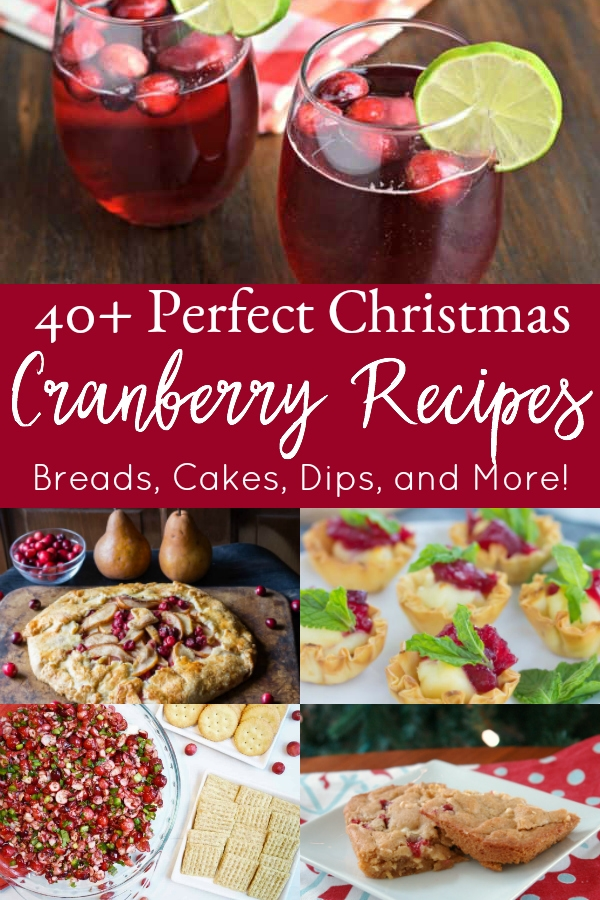 collage of cranberry recipe
