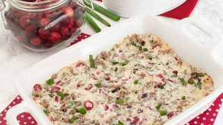 Sausage Cranberry Cream Cheese Dip