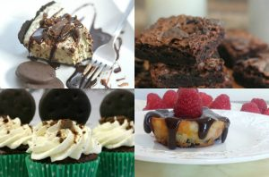 collage of thin mint recipes