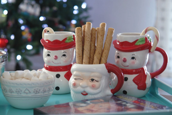 Christmas mugs and treats