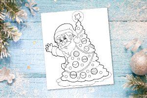 Free Printable Santa Coloring Page