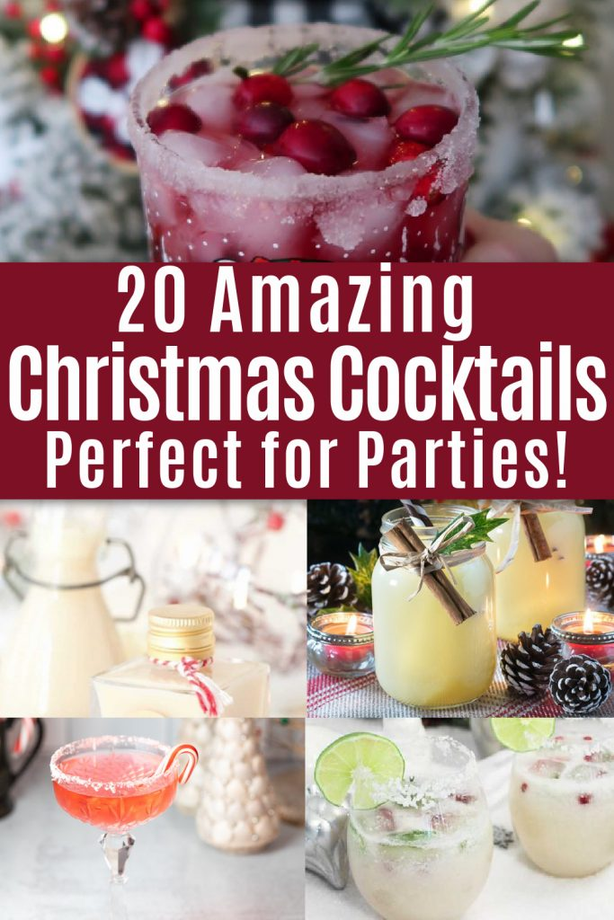collage christmas cocktail recipes