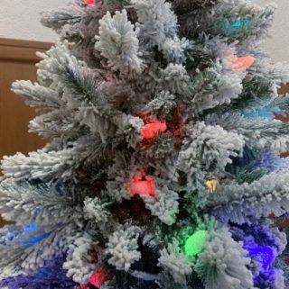 Hallmark Christmas tree upclose