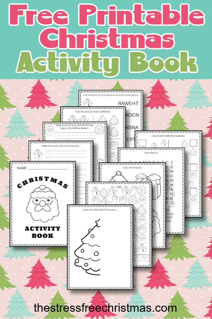 Christmas activity book example