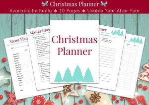 sample pages from Christmas planner