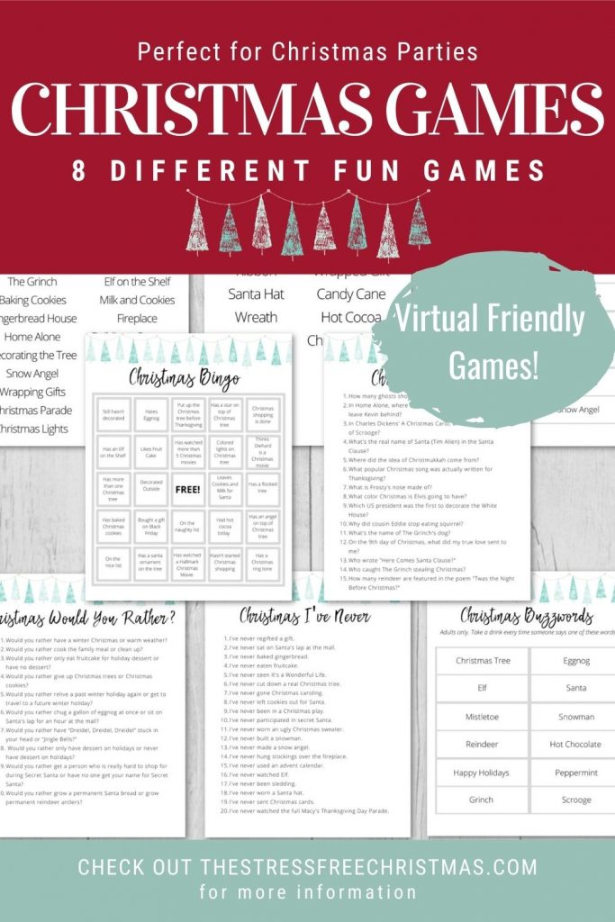 printable christmas games on table