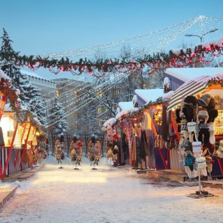 holiday market in Riga, Latvia