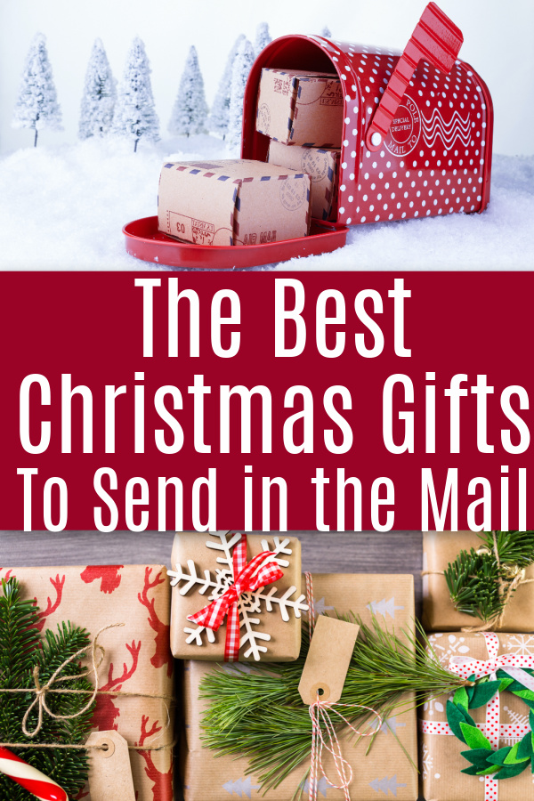 collage of Christmas mail box and christmas packages