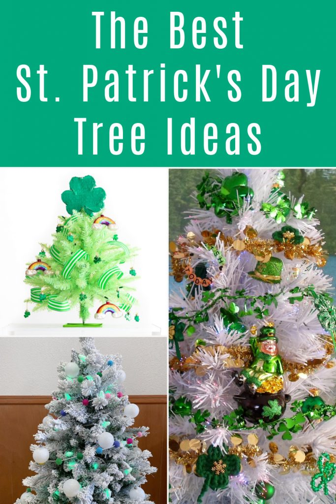 collage of St Patrick's Day tree ideas