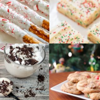 collage of Christmas treats