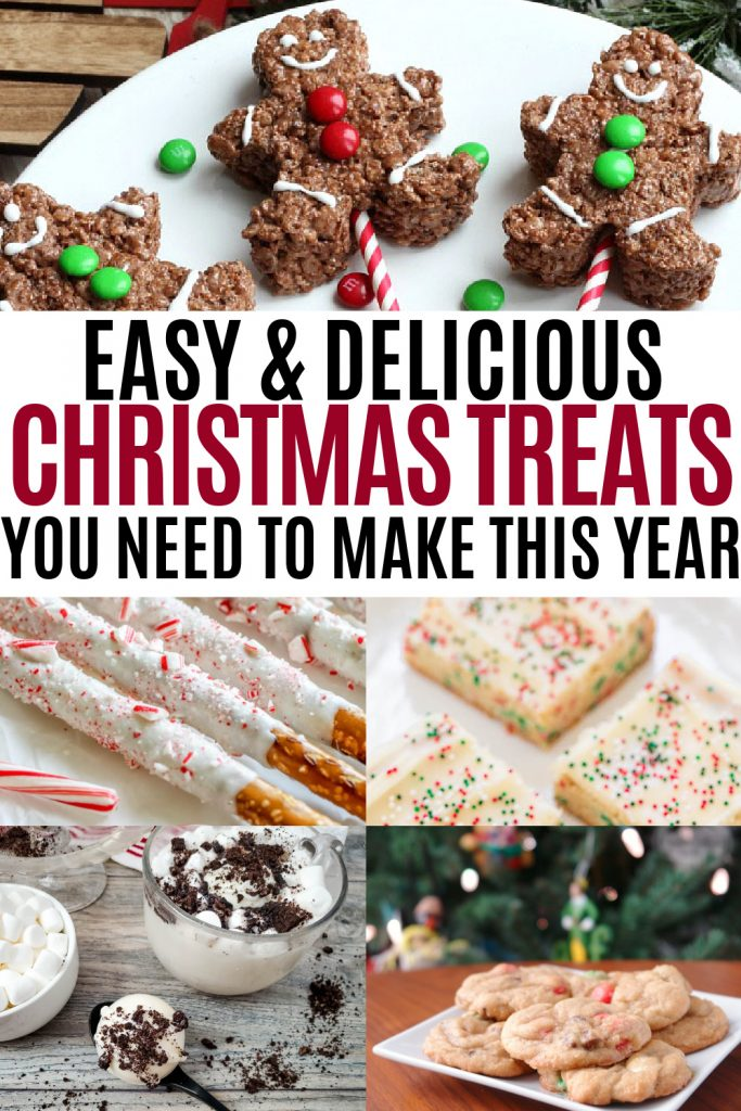 collage of christmas treat recipes