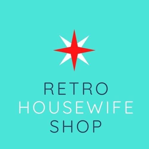 retro housewife shop ad