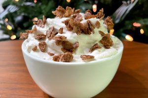 Cocoa Krispies Cereal Milk Whipped Cream