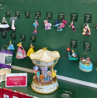 wall of hallmark ornaments
